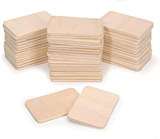 """Darice Pie Rectangle-Shaped (50pc) – Light Unfinished Wood is Easy to Paint, Stain, Embellish – Perfect for Art and Craft Projects – Each Piece Measures 2.08""""x1.37"""", 3mm T, Natural, 50 Count"""