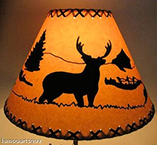 14 Inch Deer Rustic Lamp Shade.....Click on Photos to View Sizing and Style Options!