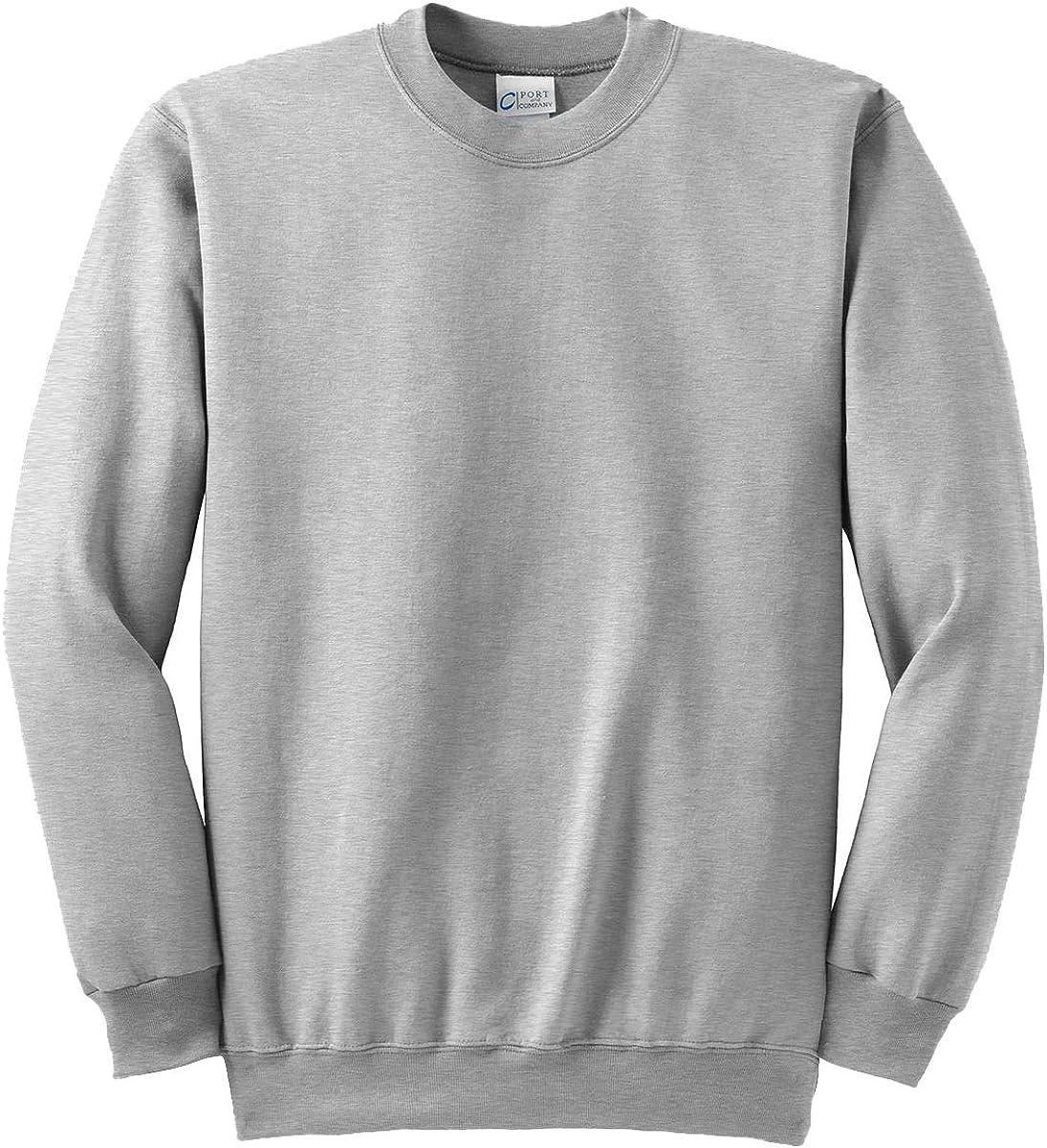 Port & Company Men's Big And Tall Crew Waistband Sweatshirt_Ash_XLT