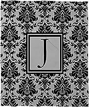 بطانية صوف مرجان من Manual Woodworkers & Weavers مقاس 152.4 سم × 127 سم، مطبوع عليها حرف J، باللون الأسود والرمادي الدمشقي