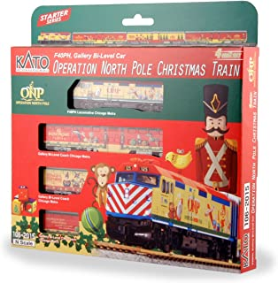 Kato USA Model Train Products N Operation North Pole Christmas Train 4-Unit Set Train