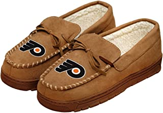 FOCO NHL Mens College Team Logo Moccasin Slippers Shoes