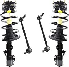 Detroit Axle - Pair (2) Front Quick Install Struts and Coil Springs with 2 Sway Bar Links for 2005 2006 2007 2008 2009 2010 Toyota Sienna 7 Passenger Models - 2WD ONLY