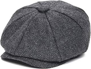 MingDe Sports Newsboy Caps Herringbone Tweed Warm Octagonal Hat Male Female Retro Flat Caps Hats for Women