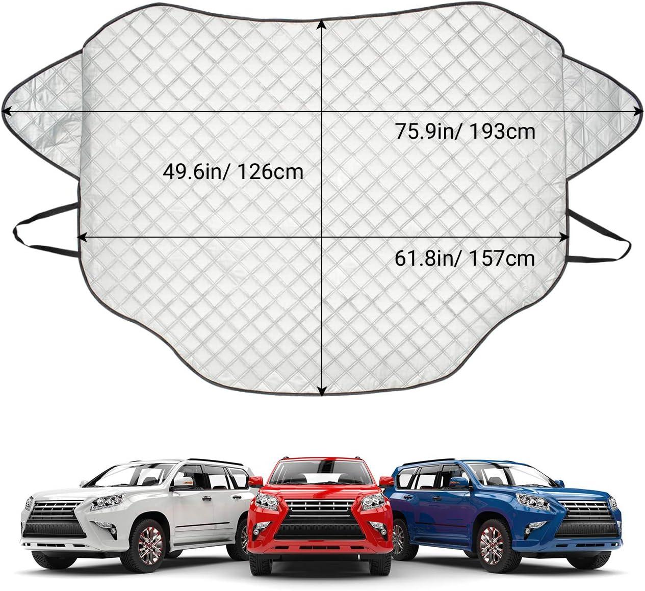 Parasole Telo Copri Parabrezza Magnetico per la Maggior Parte dei SUV Telo Protezione per Parabrezza di Auto Resistente a Gelo//Acqua//Pioggia//Neve//UV 157 x 126cm Favoto Copertura Parabrezza Auto