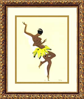 Framed Wall Art Print Black Thunder (Josephine Baker) by Paul Colin 15.12 x 17.38