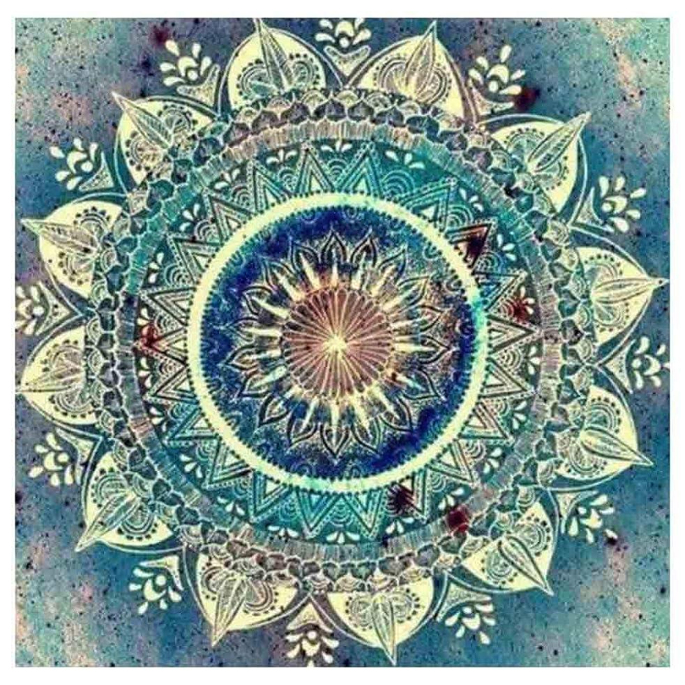 DIY 5D Full Drill Diamond Painting by Number Cross Stitch Diamond Mosaic Mandala Painting Handmade Kits Diamond Embroidery Painting Handmade Wall Painting Wall Art(Blue)