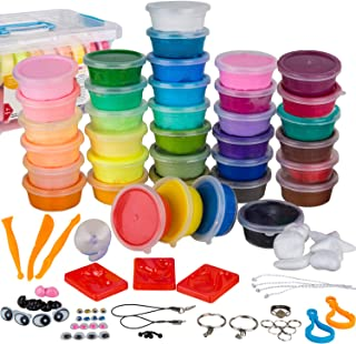 WIZOPLAY PolyClay Air Dry Clay Kit! 36 Colors Modeling Clay for Kids, Sculpting Clay Tools, Accessories, Case and Molding ...
