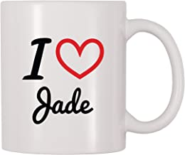 4 All Times I Love Jade Personalized Name Coffee Mug (11 oz)