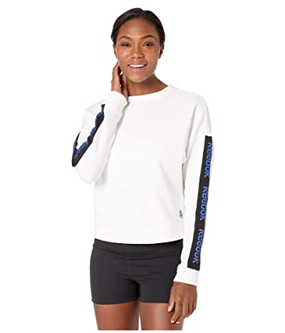 Reebok Linear Logo Crew (White) Women