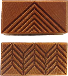 MKM Pottery Tools Stamps 4 Clay Medium Rectangle Decorative Stamp for Clay (SRM-1 Triangle)