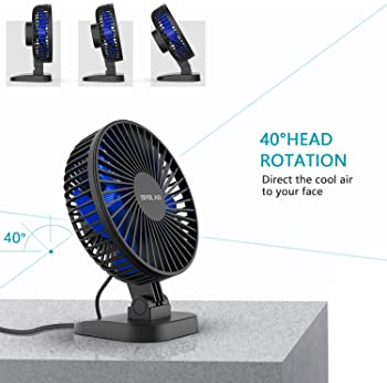 OPOLAR USB Desk Fan, Small but Mighty, Quiet Portable Fan for Desktop Office Table, 40° Adjustment for Better Cooling...