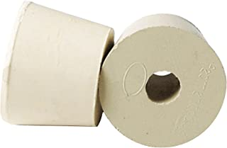 841336 1 x Rubber Stopper - Size 6 - Drilled, Cream