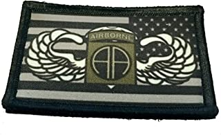 Jump Wings 82nd Airborne/Subdued USA Flag Morale Patch Tactical Military. 2x3