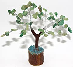 Odishabazaar Natural Healing Gemstone Crystal Fengshui Bonsai Money Tree Fortune Tree for Good Luck, Wealth & Prosperity, Happiness, Home Good Luck Decoration, Healing Gift (Green Jade)