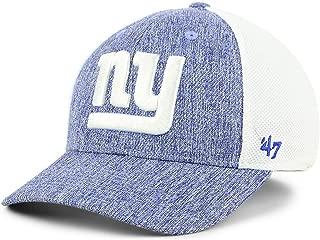 Brand NFL NY New York Giants Hazy Flex Contender Stretch Fit Cap, Blue White Hat