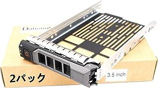 (2パック)3.5インチ0KG1CH / KG1CH HDDドライブトレイ用キャディー PowerEdge R530用R630 R730 R930 T430 T630 R730XD MD1400 MD3400シリーズ