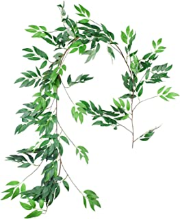 Yoodelife Artificial Eucalyptus Garland Leaves Greenery Vines for Garden Wedding Home Decor, Realistic Looking