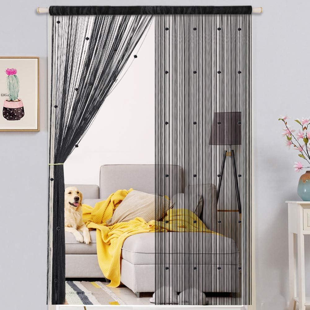 WEIXINHAI Crystal Plain Tassel Door Curtain 100 x 200 cm - Door String Curtain Thread Fringe Window Panel Room Divider Cute Strip Tassel Party Events