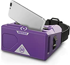 MERGE Merge AR/VR Goggles - Augmented and Virtual Reality Headset, 300+ Kid-safe Experiences, Works with iPhone or Android (Pulsar Purple)