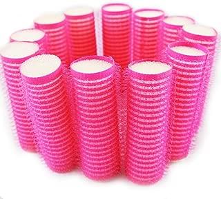 NAVAdeal 12Pcs Sleep In Hook & Loop Cling Roller Sponge Foam Hair Tools Design S Size