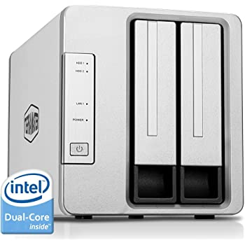 TerraMaster F2-221 NAS 2-Bay Cloud Storage Intel Dual Core 2.0GHz Plex Media Server Network Storage (Diskless)