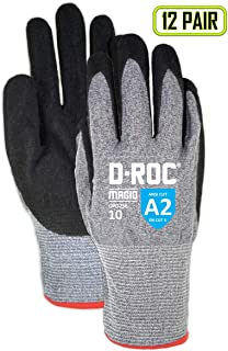 Vgo 20Pairs Natural Foam Latex Coating Gardening and Work Gloves Size L,Dark Blue, RB6032