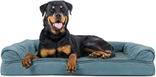 Furhaven Pet Dog Bed | Orthopedic Ultra Plush Faux Fur & Suede Traditional Sofa-Style Living Room Couch Pet Bed w/Removabl...