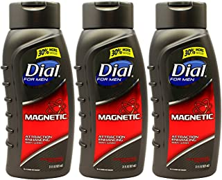 Dial Pheromone Infused, Attraction Enhancing Body Wash for Men, 21 oz (Pack of 3)