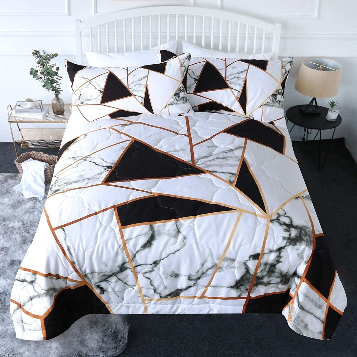 Blessliving Black Comforter Set Twin Quilt Spasm Columbus Mall price S Bedding White