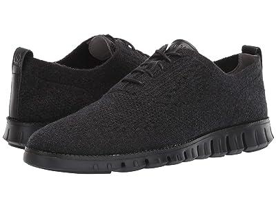 Cole Haan Zerogrand Stitchlite Wool Oxford (Black Wool/Black) Men
