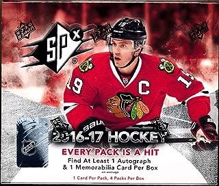 2016/17 Upper Deck SPx NHL Hockey box (4 cards)