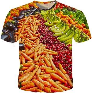Vegetables Men 3D T Shirts Slim Fit Carrot Banana Casual T Shirts Harajuku Plus Size S-5Xl