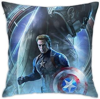 "Avengers 4 Decorative Throw Pillow Cover, Cushion Throw Pillow Cover Pillowcase for Sofa Couch Bedroom Living Room Dorm 18"""" x18"""""