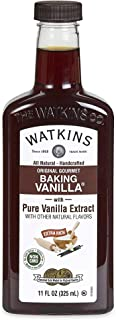 Watkins All Natural Original Gourmet Baking Vanilla, with Pure Vanilla Extract, 11 ounces Bottle, 1 Count (Packaging May V...
