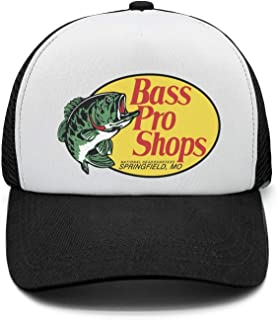 Classic BASS-Pro-Shops-Logo-Adjustable Mesh Black Unisex Snapback Hat Cap