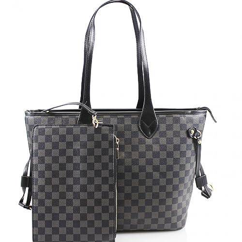 36848909365c LeahWard Women s 2 IN 1 Shoulder Bag With Clutch Bag Designer Shopper Bags  Handbag For School