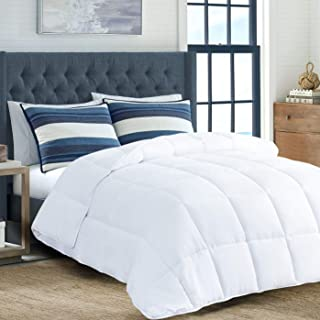 downluxe All-Season Down Alternative Comforter - Quilted Duvet Insert with Coner Tabs - Plush Hypoallergenic Microfiber Fill - King