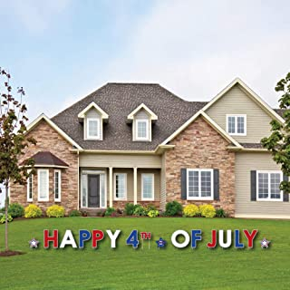 Big Dot of Happiness 4th of July - Yard Sign Outdoor Lawn Decorations - Independence Day Party Yard Signs - Happy 4th of July