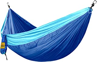 Hamac Camping Extérieur Balançoires Loisirs Anti - Renversement 270*140 Bleu + Bleu