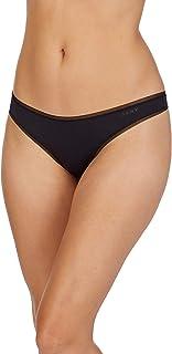 DKNY Women's Dkny Litewear Low Rise Thong Underwear, -black, Large