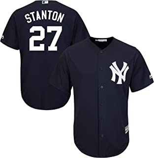 Outerstuff Giancarlo Stanton New York Yankees Kids 4-7 Navy Alternate Cool Base Replica Jersey