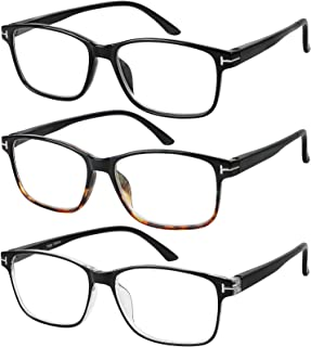 f0f064f8fd6f Reading Glasses 3 Pair Stylish Quality Readers Spring Hinge Glasses for  Reading for Men and Women