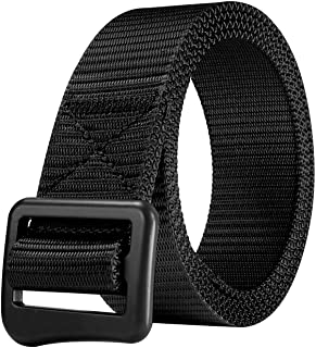 JINIU Nylon Military Tactical for Men&Women Belt Canvas Outdoor Web Belt With Adjustable Simple Buckle