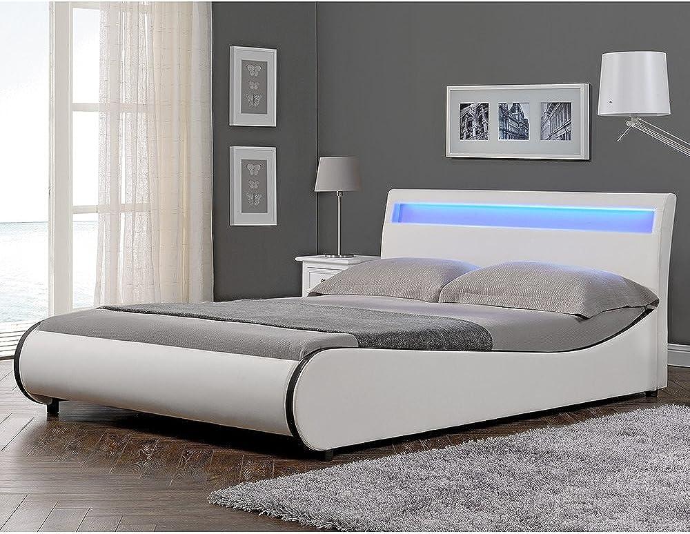 """Corium, letto imbottito valencia"""" con illuminazione led Variante_Betten_Valencia"""