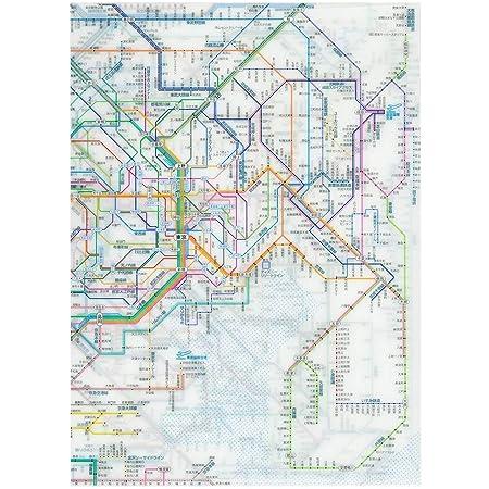 東京カートグラフィック 鉄道路線図クリアファイル 首都圏 日本語 RFSJ【まとめがい10冊セット】