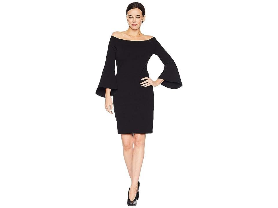 Karen Kane Bell Sleeve Dress (Black 1) Women