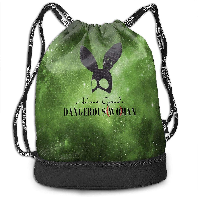 Unisex Drawstring Backpack ArianaGrandeLogos Sport Gym Drawstring Bag