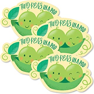 Big Dot of Happiness Double the Fun - Twins Two Peas in a Pod - Pea Pod Decorations DIY Baby Shower or First Birthday Party Essentials - Set of 20
