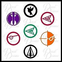 Team Green Arrow emblems SET DC Comics Vinyl Decal